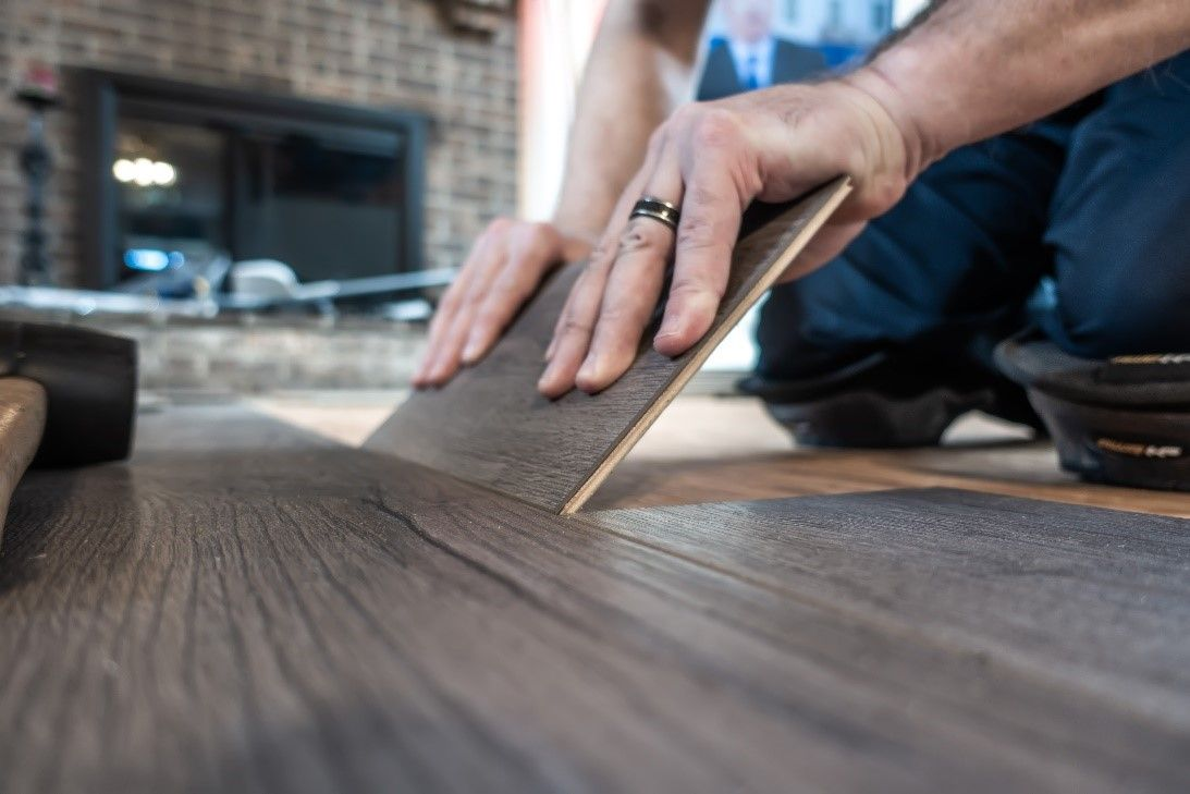 Laminate floors in a house.